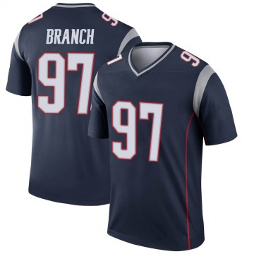 Youth Nike New England Patriots Alan Branch Navy Jersey - Legend