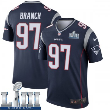 Youth Nike New England Patriots Alan Branch Navy Super Bowl LIII Jersey - Legend