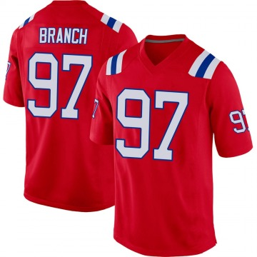 Youth Nike New England Patriots Alan Branch Red Alternate Jersey - Game
