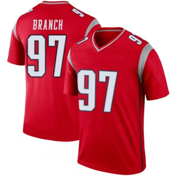 Youth Nike New England Patriots Alan Branch Red Inverted Jersey - Legend