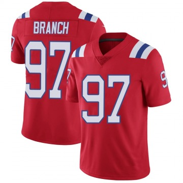 Youth Nike New England Patriots Alan Branch Red Vapor Untouchable Alternate Jersey - Limited