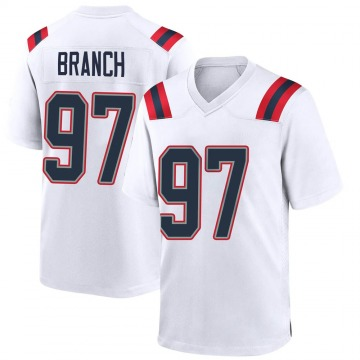 Youth Nike New England Patriots Alan Branch White Jersey - Game