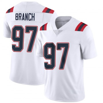 Youth Nike New England Patriots Alan Branch White Vapor Untouchable Jersey - Limited