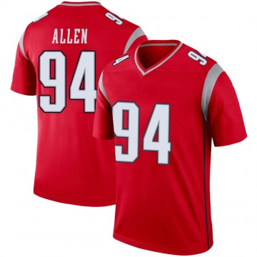 Youth Nike New England Patriots Beau Allen Red Inverted Jersey - Legend
