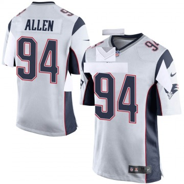 Youth Nike New England Patriots Beau Allen White Jersey - Game