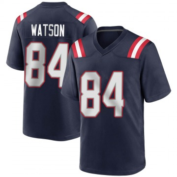 Youth Nike New England Patriots Benjamin Watson Navy Blue Team Color Jersey - Game