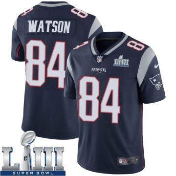 Youth Nike New England Patriots Benjamin Watson Navy Team Color Super Bowl LIII Vapor Untouchable Jersey - Limited