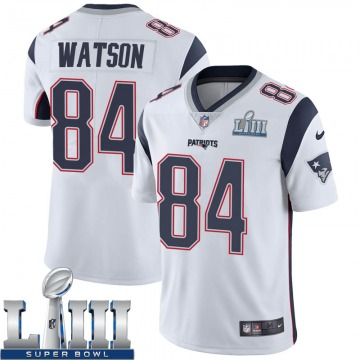 Youth Nike New England Patriots Benjamin Watson White Super Bowl LIII Vapor Untouchable Jersey - Limited