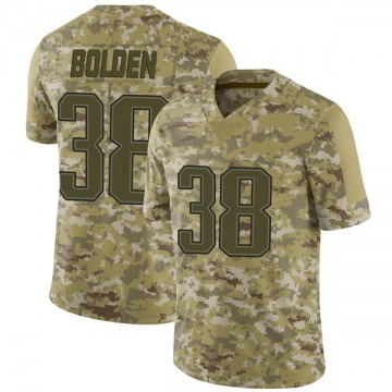 Youth Nike New England Patriots Brandon Bolden Camo 2018 Salute to Service Jersey - Limited