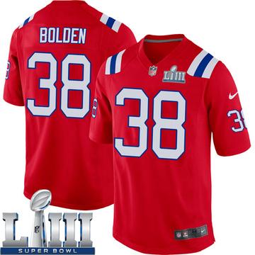 Youth Nike New England Patriots Brandon Bolden Red Alternate Super Bowl LIII Jersey - Game