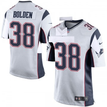Youth Nike New England Patriots Brandon Bolden White Jersey - Game