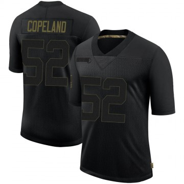Youth Nike New England Patriots Brandon Copeland Black 2020 Salute To Service Jersey - Limited