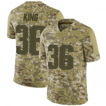 Youth Nike New England Patriots Brandon King Camo 2018 Salute to Service Jersey - Limited