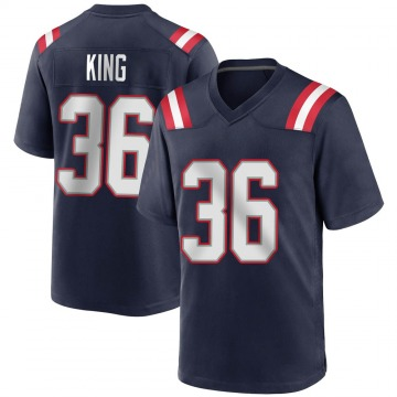 Youth Nike New England Patriots Brandon King Navy Blue Team Color Jersey - Game