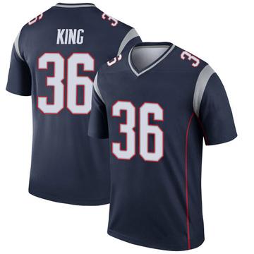 Youth Nike New England Patriots Brandon King Navy Jersey - Legend