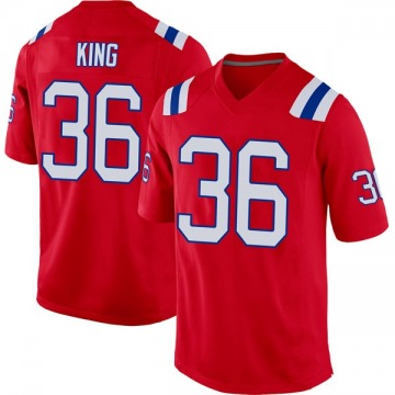 Youth Nike New England Patriots Brandon King Red Alternate Jersey - Game