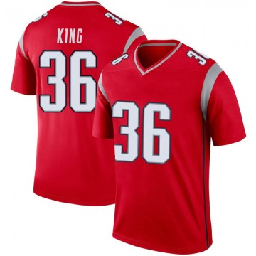 Youth Nike New England Patriots Brandon King Red Inverted Jersey - Legend