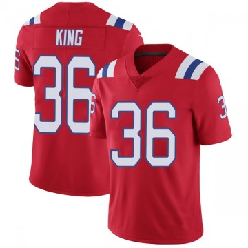 Youth Nike New England Patriots Brandon King Red Vapor Untouchable Alternate Jersey - Limited