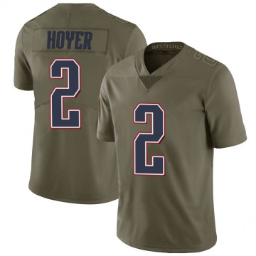 Youth Nike New England Patriots Brian Hoyer Green 2017 Salute to Service Jersey - Limited