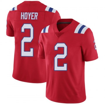 Youth Nike New England Patriots Brian Hoyer Red Vapor Untouchable Alternate Jersey - Limited