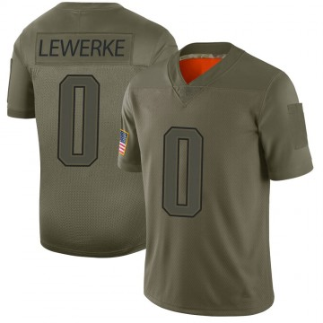 Youth Nike New England Patriots Brian Lewerke Camo 2019 Salute to Service Jersey - Limited