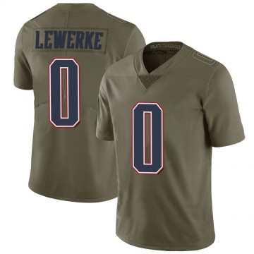 Youth Nike New England Patriots Brian Lewerke Green 2017 Salute to Service Jersey - Limited