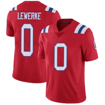 Youth Nike New England Patriots Brian Lewerke Red Vapor Untouchable Alternate Jersey - Limited