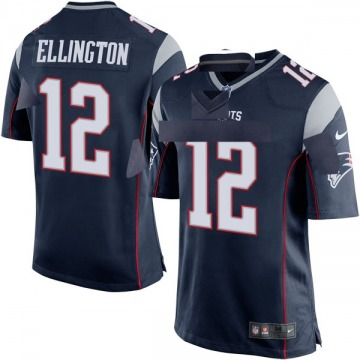 Youth Nike New England Patriots Bruce Ellington Navy Blue Team Color Jersey - Game