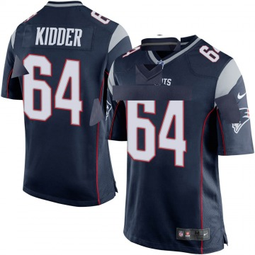 Youth Nike New England Patriots Caleb Kidder Navy Blue Team Color Jersey - Game