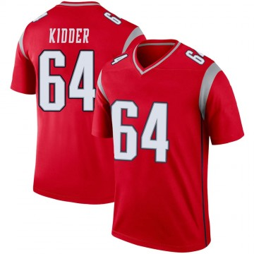 Youth Nike New England Patriots Caleb Kidder Red Inverted Jersey - Legend