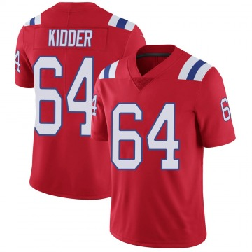 Youth Nike New England Patriots Caleb Kidder Red Vapor Untouchable Alternate Jersey - Limited