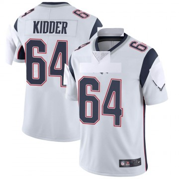Youth Nike New England Patriots Caleb Kidder White Vapor Untouchable Jersey - Limited