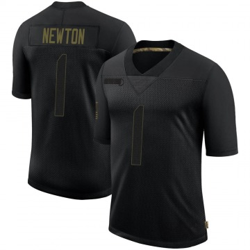 Youth Nike New England Patriots Cam Newton Black 2020 Salute To Service Jersey - Limited