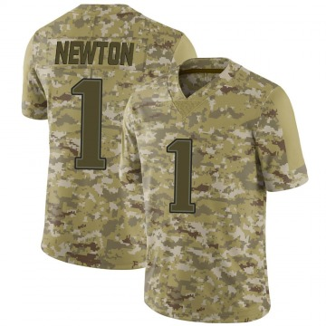 Youth Nike New England Patriots Cam Newton Camo 2018 Salute to Service Jersey - Limited