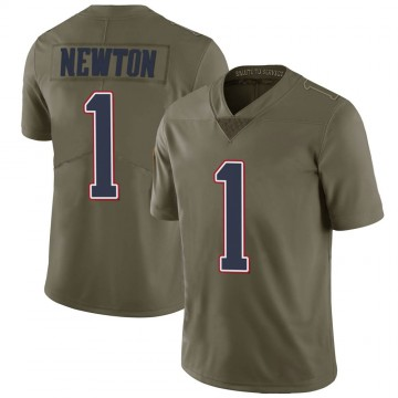 Youth Nike New England Patriots Cam Newton Green 2017 Salute to Service Jersey - Limited
