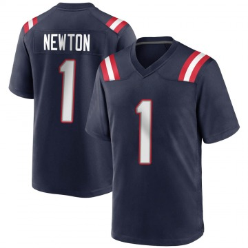Youth Nike New England Patriots Cam Newton Navy Blue Team Color Jersey - Game