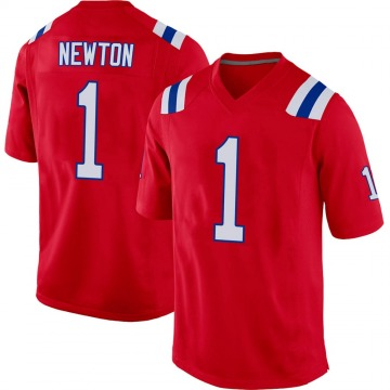 Youth Nike New England Patriots Cam Newton Red Alternate Jersey - Game