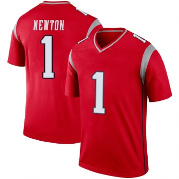 Youth Nike New England Patriots Cam Newton Red Inverted Jersey - Legend