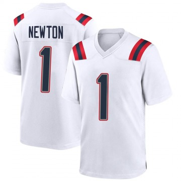 Youth Nike New England Patriots Cam Newton White Jersey - Game