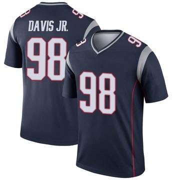 Youth Nike New England Patriots Carl Davis Navy Jersey - Legend