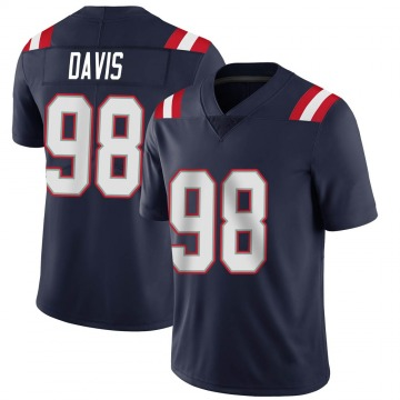 Youth Nike New England Patriots Carl Davis Navy Team Color Vapor Untouchable Jersey - Limited