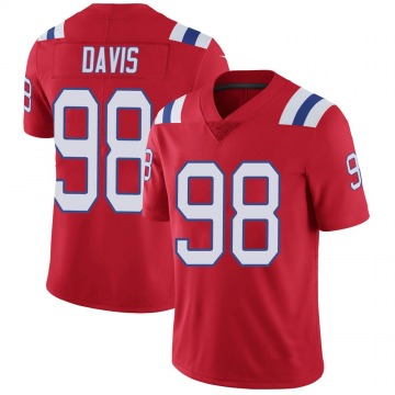 Youth Nike New England Patriots Carl Davis Red Vapor Untouchable Alternate Jersey - Limited
