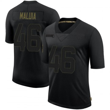 Youth Nike New England Patriots Cassh Maluia Black 2020 Salute To Service Jersey - Limited