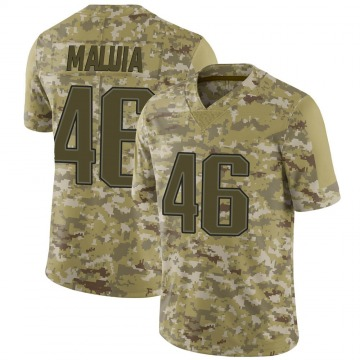 Youth Nike New England Patriots Cassh Maluia Camo 2018 Salute to Service Jersey - Limited