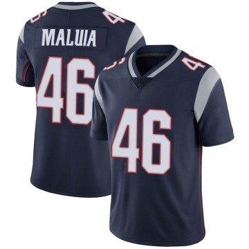 Youth Nike New England Patriots Cassh Maluia Navy 100th Vapor Jersey - Limited