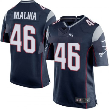 Youth Nike New England Patriots Cassh Maluia Navy Blue Team Color Jersey - Game