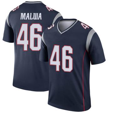 Youth Nike New England Patriots Cassh Maluia Navy Jersey - Legend