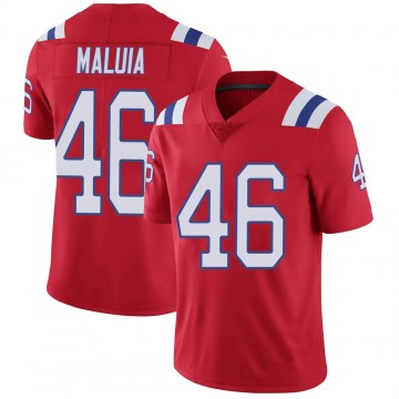 Youth Nike New England Patriots Cassh Maluia Red Vapor Untouchable Alternate Jersey - Limited