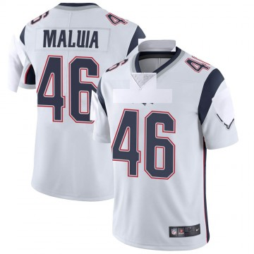 Youth Nike New England Patriots Cassh Maluia White Vapor Untouchable Jersey - Limited