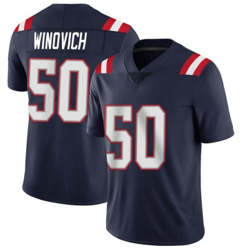 Youth Nike New England Patriots Chase Winovich Navy Team Color Vapor Untouchable Jersey - Limited
